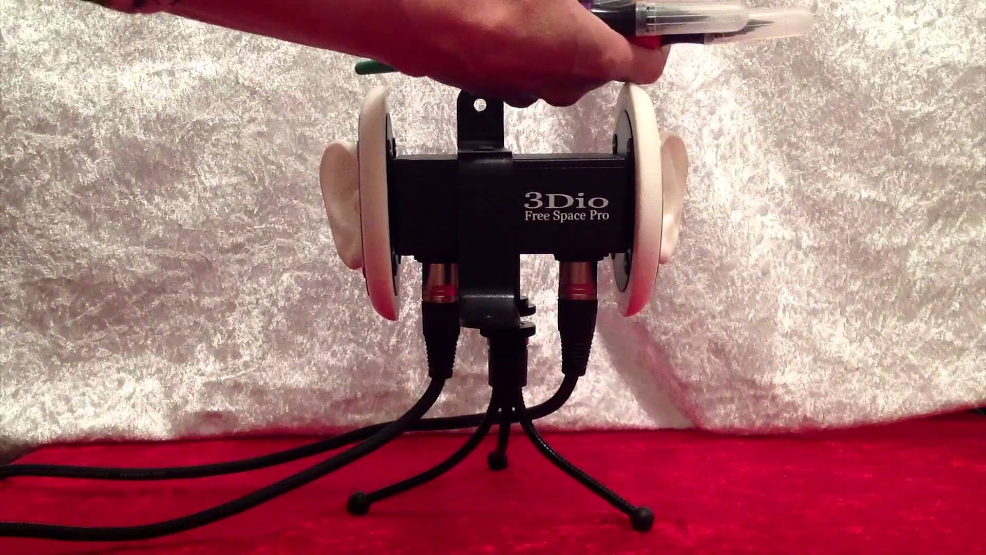 ASMR 3Dio Free Space Pro Binaural Mic Test – Crinkly Sounds, Microphone Brushing, Tapping