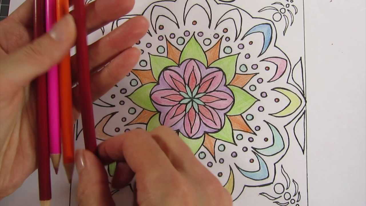ASMR: Colouring a Mandala – Pencil Noises & Drawing Sounds