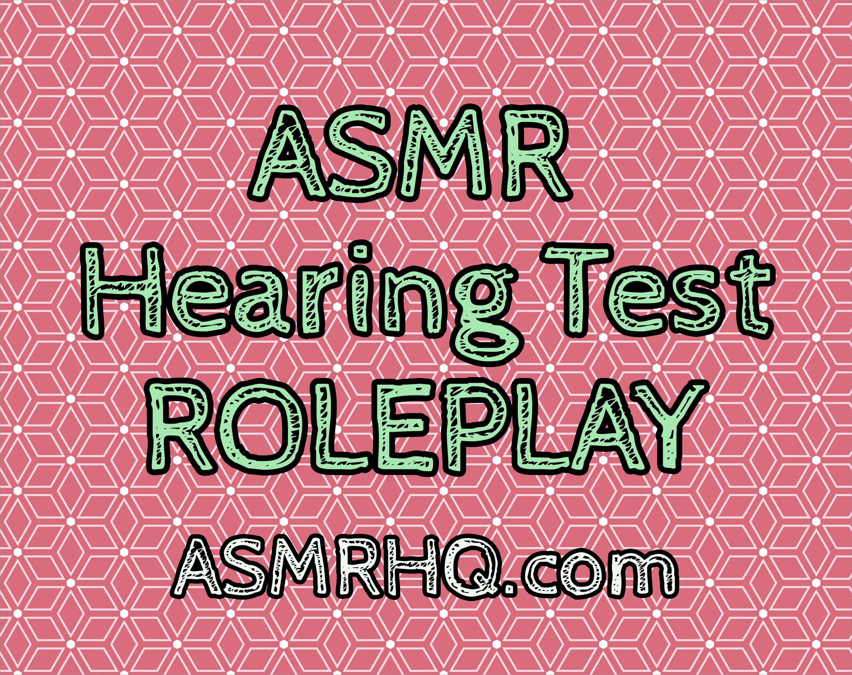 ASMR: Binaural Hearing Test Role Play