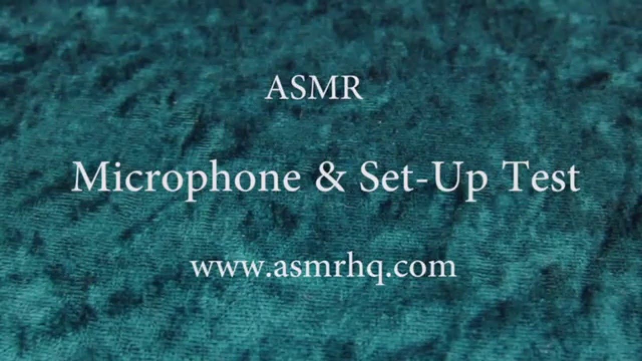 ASMR Microphone Test: Softly Spoken with Tapping Sounds